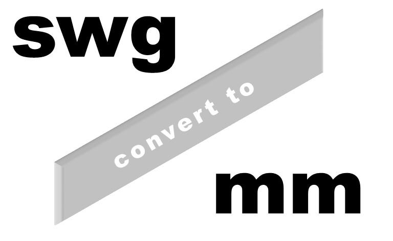 Gauge To Mm Conversion Chart For Rivet Bushes Rivet Bushes