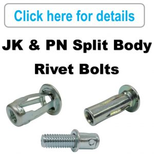 Rivet Nuts - JK & PN, Rivet Bolts