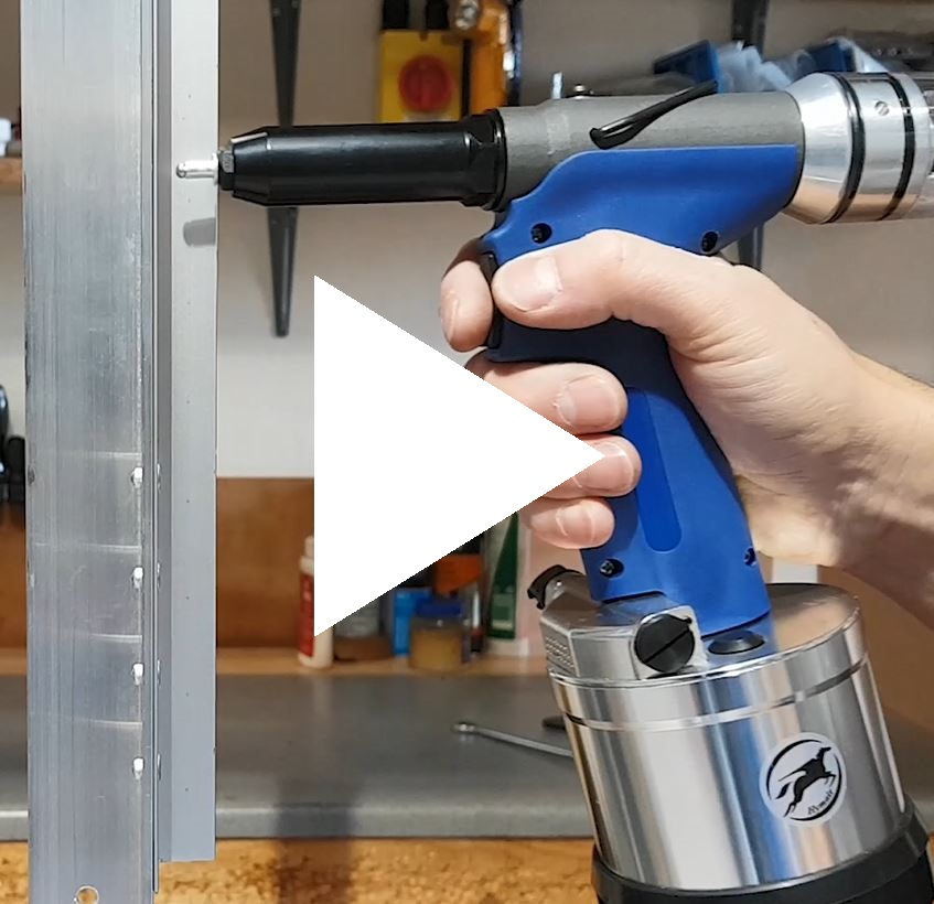AT-6019 Production Air Riveter in Action